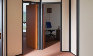 Sioen calendering Plastylon partitions covering