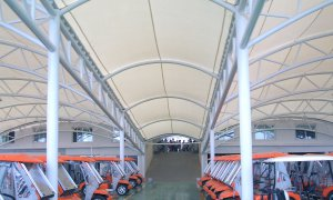 Sioen Industries tensile architecture Easyfluo